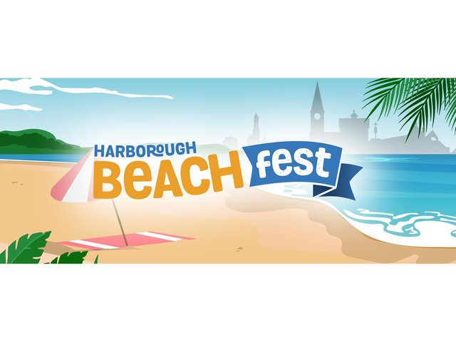The Harborough Beach Fest is a seven-day event featuring a huge beach with deckchairs, pop-up caf and bar, fairground rides, live dinosaur show, live music, summer market and fireworks.