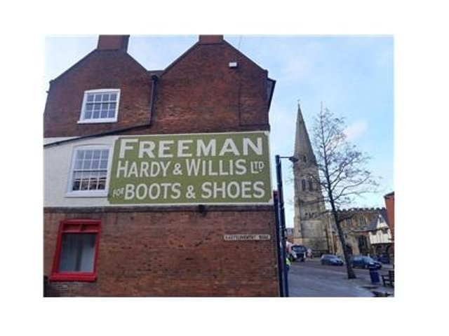 The British Heart Foundation on the High Street has meticulously repainted the former Freeman Hardy & Willis sign on the Coventry Road side of its building which had faded over time.