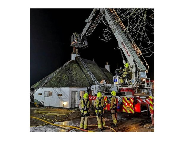 Crews from Lutterworth and Kibworth as well as throughout the area dashed to deal with the fire at the traditional cottage on Main Street, Peatling Parva, on Saturday evening.