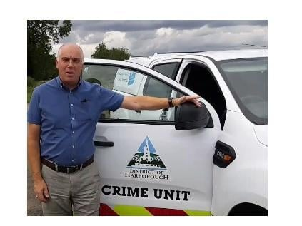 Cllr Bateman in Tip Off video put together by Harborough District Council.