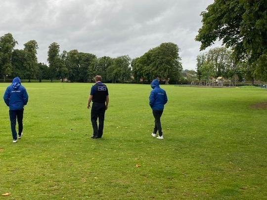 Officers went to the park, which is popular with families, runners and dog walkers, after being tipped off by concerned members of the public about suspicious behaviour.