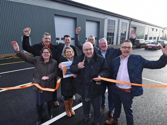 This photo was taken when the business park was opened in December 2019.