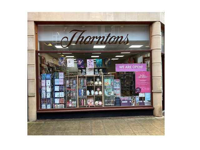 The Cardzone outlet on St Mary's Place in the town centre is escaping the axe hitting every one of Thorntons shops nationwide because it's a franchise.
