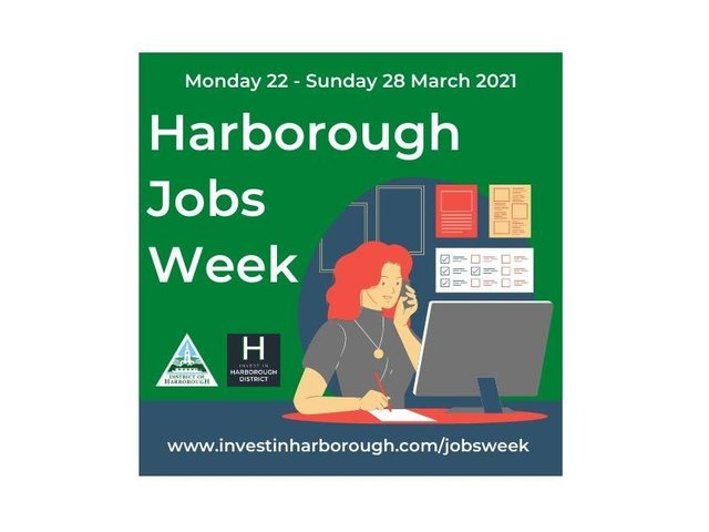 Harborough Jobs Week, running from Monday March 22 until Sunday March 28, will feature job vacancies covering sectors ranging from facilities management to logistics and childcare to hospitality.