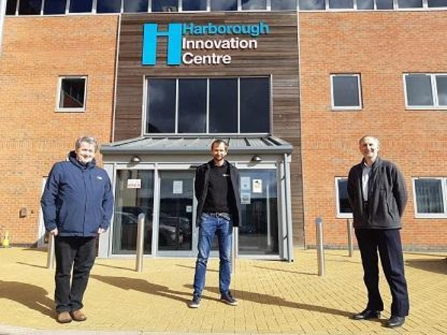 Cllr Phil King, Doug Andrews, and David Wright, economic development manager for Harborough council/