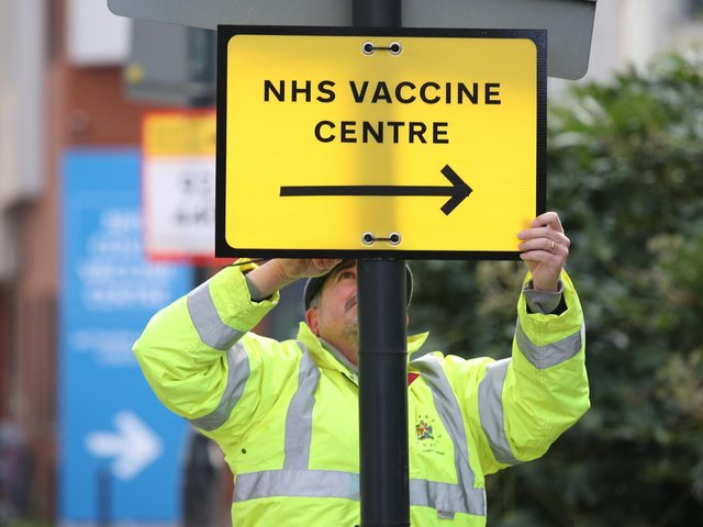 More than half of people in Harborough have received their first dose of a Covid-19 vaccine, figures reveal.