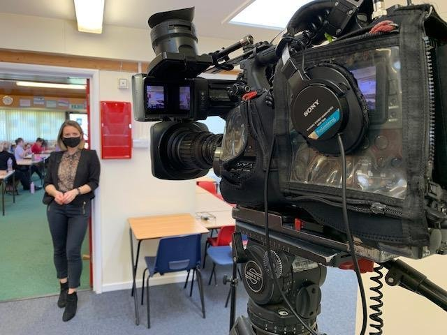 Excitement rose to fever pitch as BBC East Midlands Today went to St Andrew's Primary School at North Kilworth to talk to pupils, teachers and parents – and feature them on TV.