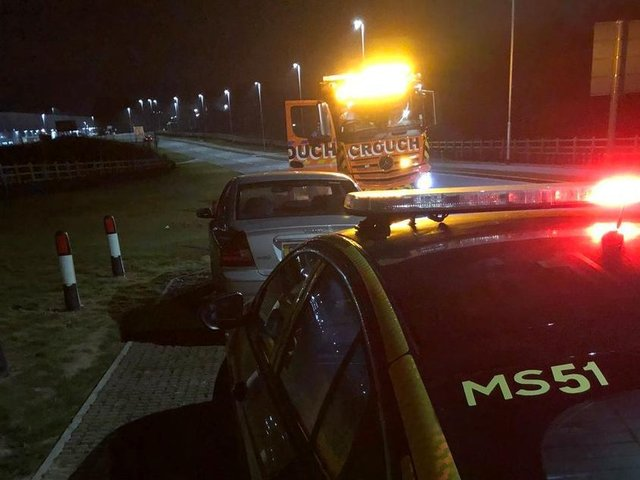 This driver had her Volvo seized by police near Lutterworth as she went to work last night (Tuesday) because she had no insurance.
