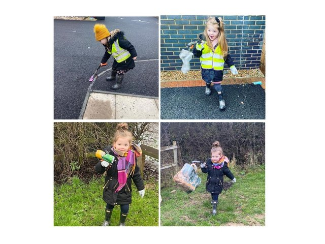 Daisy French-Hewitt is so determined to keep her streets and countryside clean that she even wrote to Father Christmas asking for a litter picker.