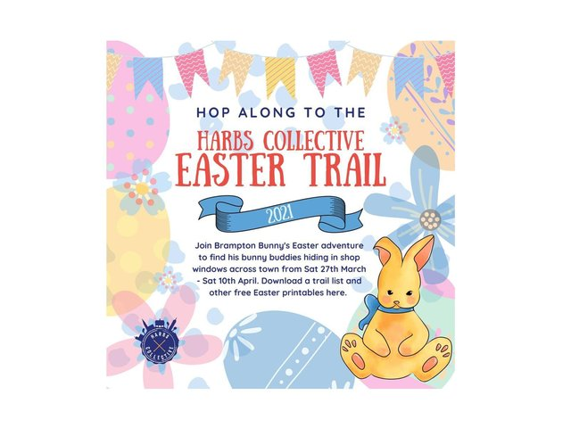 A special Easter bunny hunt is being set up to give children in Market Harborough loads of fun and bags of laughs over the next few days.