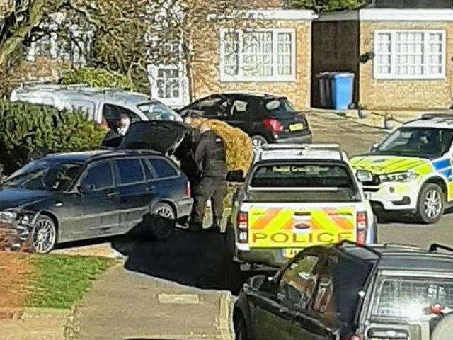 A quick-thinking policewoman blocked the criminal in Squires Hill with her patrol vehicle before jumping out with one of her dogs.