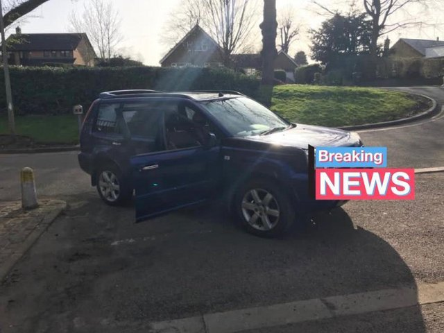 An SUV linked to a string of shop thefts across three counties has been seized by police in Market Harborough. Photo by Market Harborough and Lutterworth Police.