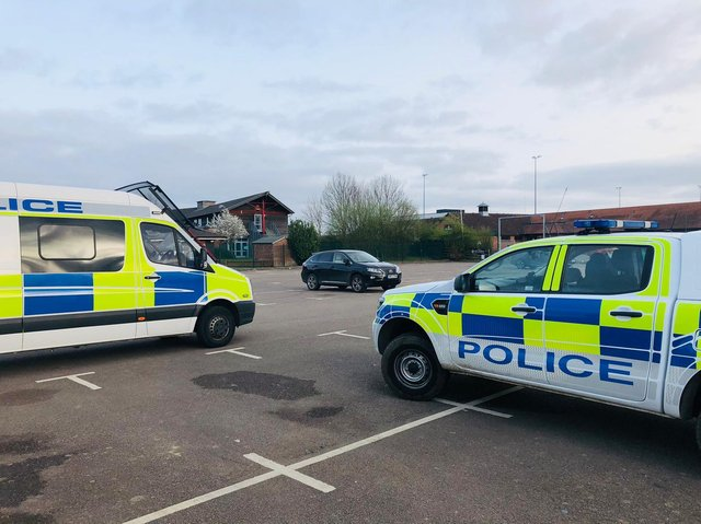 Harborough police said last night that the travellers had got up and driven off before the evening deadline.