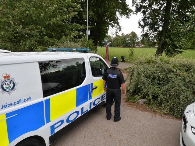 Police patrol Little Bowden Recreation Ground.
