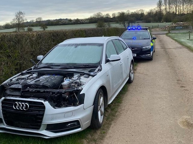 Police have seized a stolen car at Kibworth this morning.