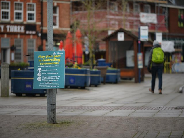 The current rate of Covid-19 cases in Harborough has plunged through the floor to become one of the lowest in England.