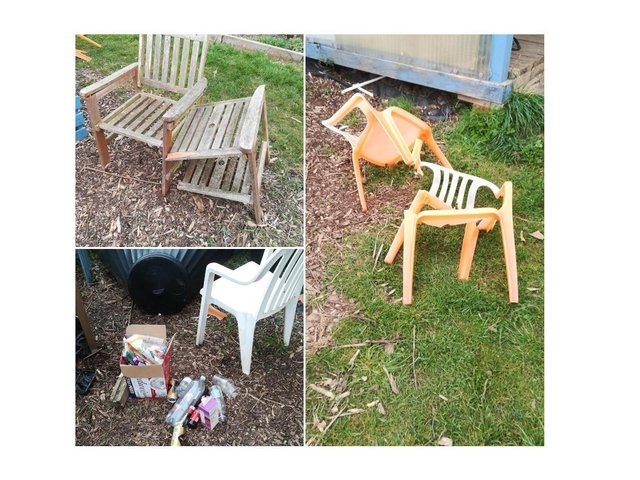Vandals have left a shocking trail of destruction at a much-loved Market Harborough allotment used by vulnerable people with learning disabilities.