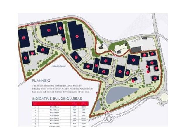 The plans for Wellington Business Park.