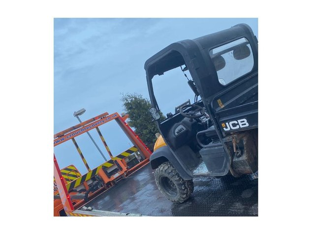 A stolen JCB vehicle has been recovered by police in Lutterworth at the weekend.