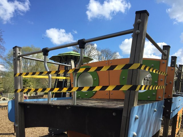 """Vandals who damaged a children's playground in a popular Market Harborough park have been branded """"mindless and wilful"""" by Harborough council."""