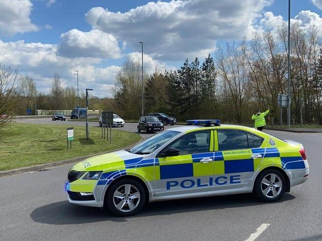 A van crashed on the A6 in Harborough this afternoon (Wednesday) – forcing the busy road to be closed.