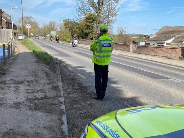 Police have been carrying out speed checks on the A47 in Tugby.