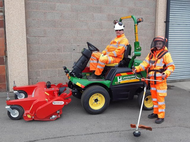 The county council is launching its annual programme of grass cutting across Harborough and throughout Leicestershire this month.