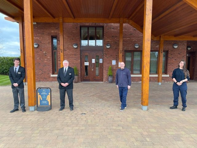 Staff at Great Glen Crematorium are saluting NHS fundraising legend Captain Sir Tom Moore – by raising money to boost his charity.