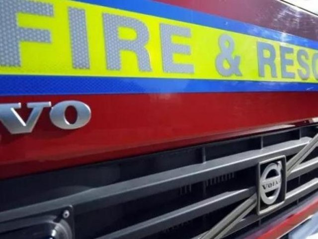 A man has died after he was found inside a blazing car near Market Harborough.