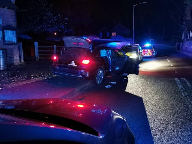 A dramatic 165mph late-night police chase on the M1 – involving armed officers and the regional police helicopter – ended with a car crashing in a Harborough village.