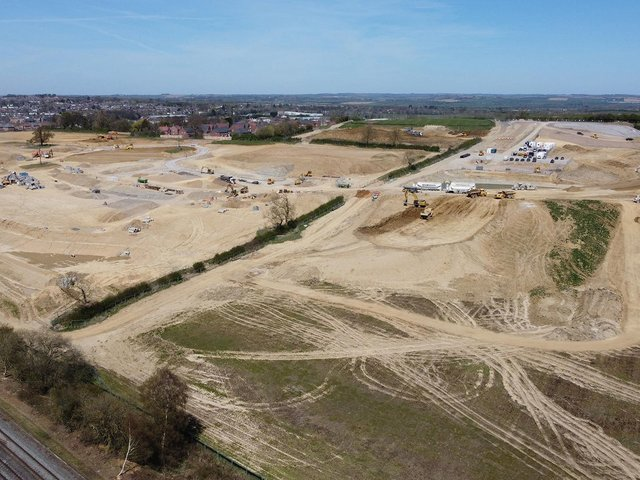 Work has started on the Davidsons Homes site located to the south east of Market Harborough. PICTURE: ANDREW CARPENTER