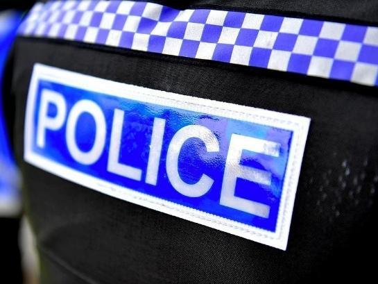 A suspect was arrested when the regional police helicopter was drafted in after a man was robbed of his worktools in Desborough.