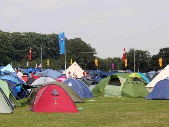 Camping at Shambala Festival (library image).
