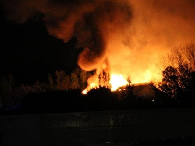 There is a major fire at Lutterworth Golf Club this evening (Saturday May 1). Photo by Jack Millen.