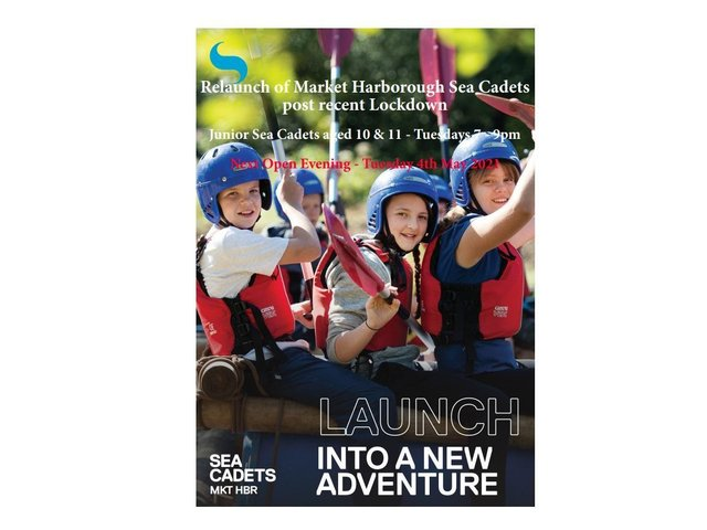 Market Harborough Sea Cadets are holding an open evening tonight (Tuesday) as they seek young new recruits. The organisation will be staging the special get-together from 7pm-9pm at St Dionysuis Church Hall on Coventry Road, Market Harborough.