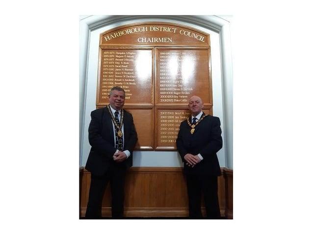 Vice Chairman Cllr Neil Bannister, left, and Chairman Cllr Stephen Bilbie