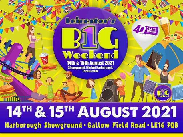 The two-day festival dubbed One Big Weekend is to be staged at the 90-acre Showground site off Leicester Road, Market Harborough, to support Sue Young Cancer Support.