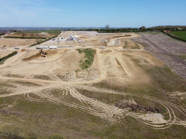 You can see from our aerial pictures here, taken by our photographer Andy Carpenter, just how big this development to the south of the town will be as it starts to take shape.