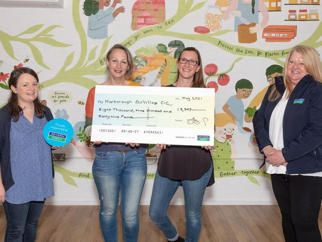 A new community room which can host a range of events and activities has opened in Harborough's Eco Village, thanks to the £9,000 grant from Severn Trent.