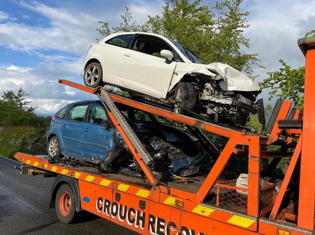 The crash happened on Carlton Road, Kibworth. Photo by Andrew Carpenter.