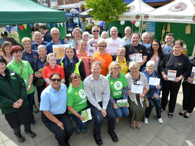 Neil O'Brien MP during the Community and Volunteers Fair on the Square. The photo was taken in 2018 before the pandemic. PICTURE: ANDREW CARPENTER