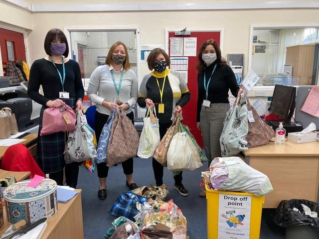 Volunteers from The Hygiene Bank, Market Harborough.