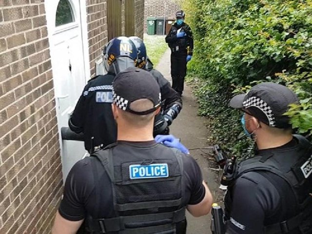 Police raided two houses in Harborough district villages as officers targeted County Lines drugs gangs across Leicestershire.