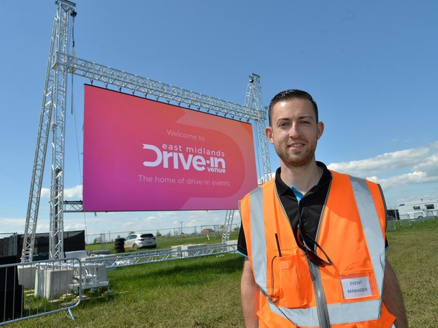 Michael Preston event manager of East Midlands Drive in before the screening of the Lion KIng. PICTURE: ANDREW CARPENTER