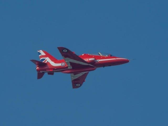 The Red Arrows will be flying over Market Harborough at about 3.20pm today (Friday). Photo by Peter Crowe.