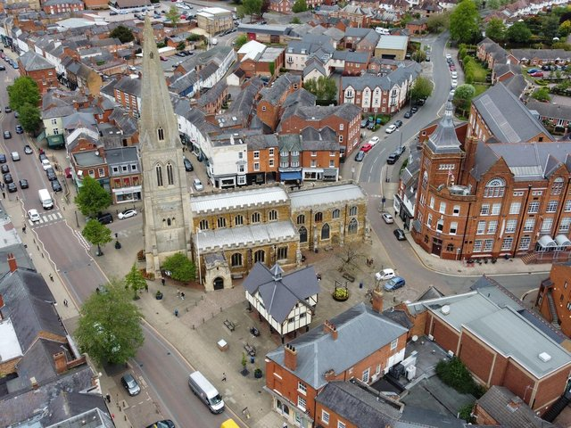 Harborough town centre. Photo by Andrew Carpenter.