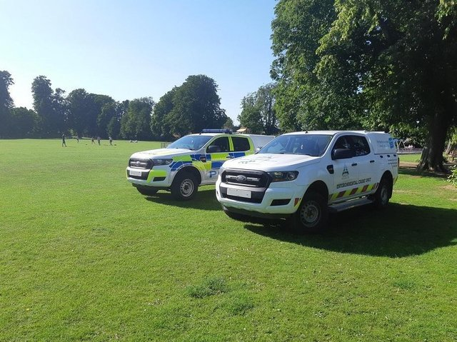 Patrols at Little Bowden Recreation Ground.