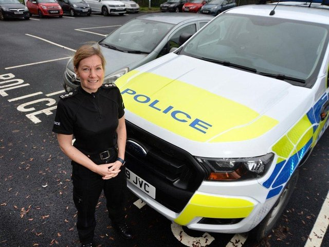 Insp Siobhan Gorman, who led Harborough police for three years before leaving this week.