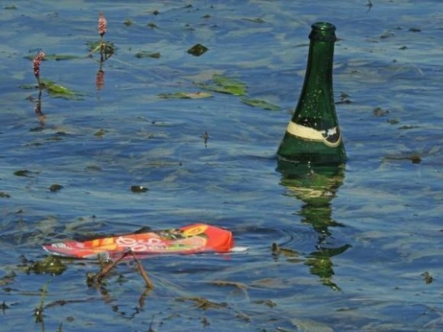 A photo from last year when people left litter in the reservoir.