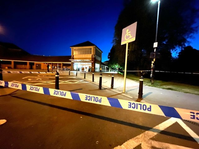 A 21-year-old man is in hospital with serious stab wounds after an incident in Market Harborough town centre tonight (Saturday).